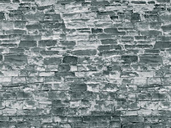 H0 Mauerplatte Naturstein grau aus Karton,