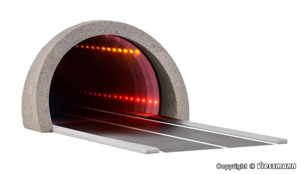 H0 Straßentunnel modern, mit LED Spiegeleffekt