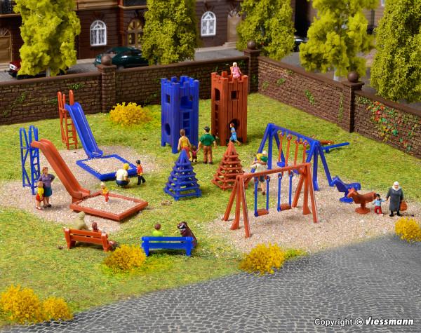 H0 Deko-Set Kinderspielplatz