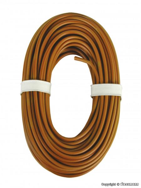 Hochstromkabel 0,75 mm², braun, 10 m