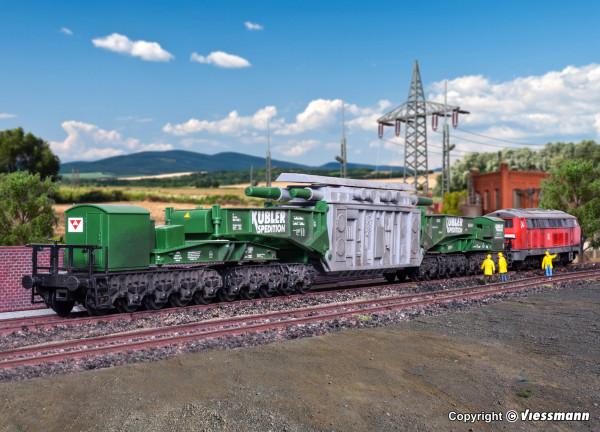 H0 Schienentiefladewagen MAN Uaai 687.9 mit