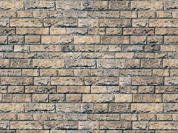 H0 Mauerplatte Basalt aus Karton, 25 x 12,5 cm,