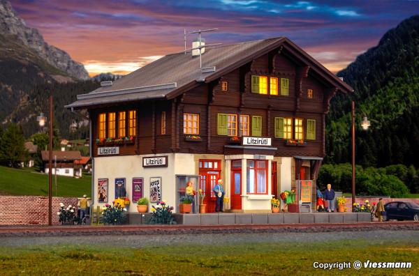 H0 Bahnhof Litzirüti inkl. Hausbeleuchtungs-