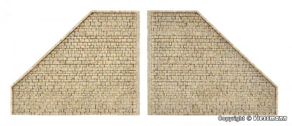 N Stützwand aus Steinkunst,