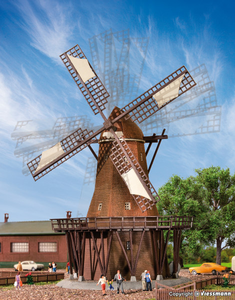N Windmühle mit Antrieb, Funktionsbausatz