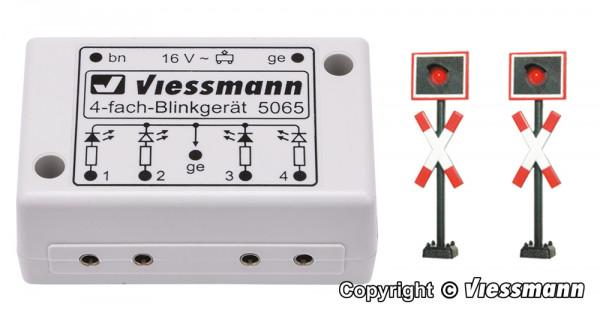 H0 Andreaskreuze mit Blinkelektronik, 2 Stück