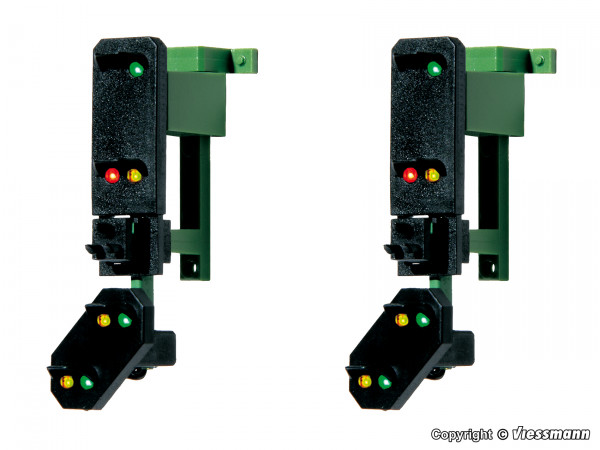 H0 Einfahrsignalköpfe mit Vorsignal und Multiplex-