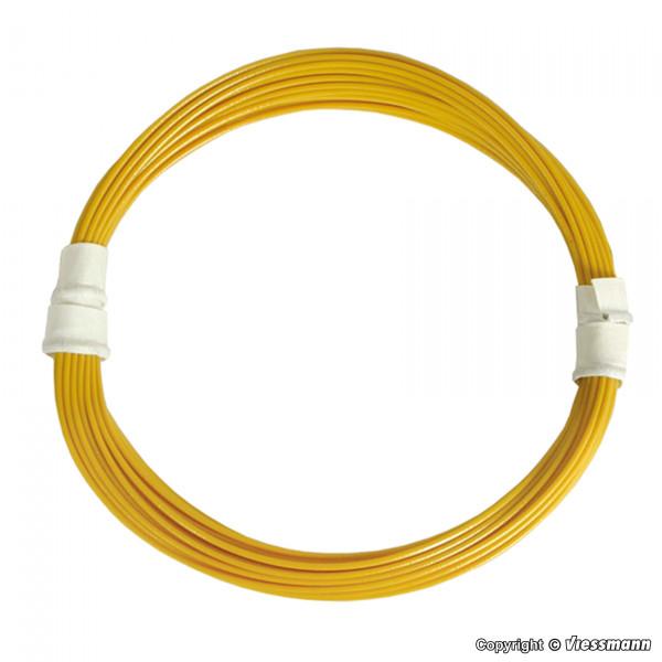Extradünner Spezialdraht 0,03 mm², gelb, 5 m