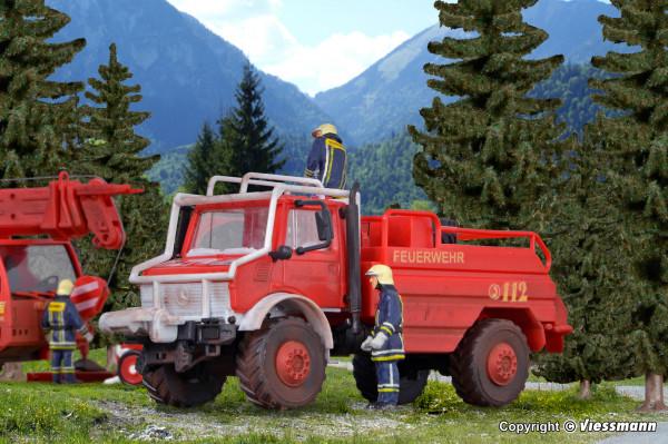 H0 Feuerwehr UNIMOG Waldbrandlöschfahrzeug