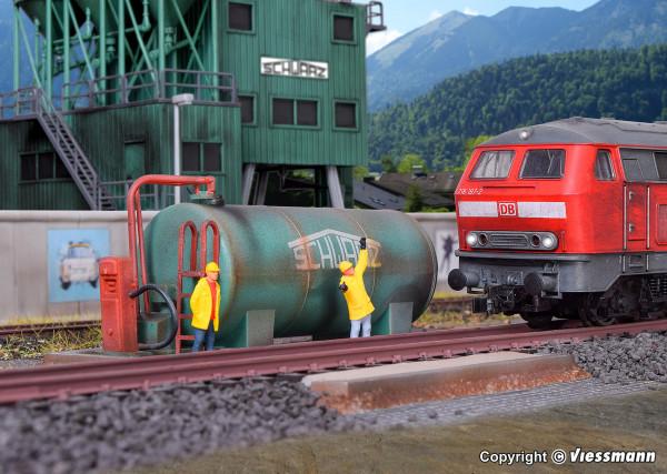 H0 Dieseltankstelle SchwarzBau
