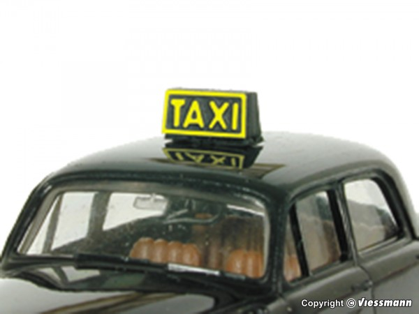 H0 Taxischild mit LED-Beleuchtung