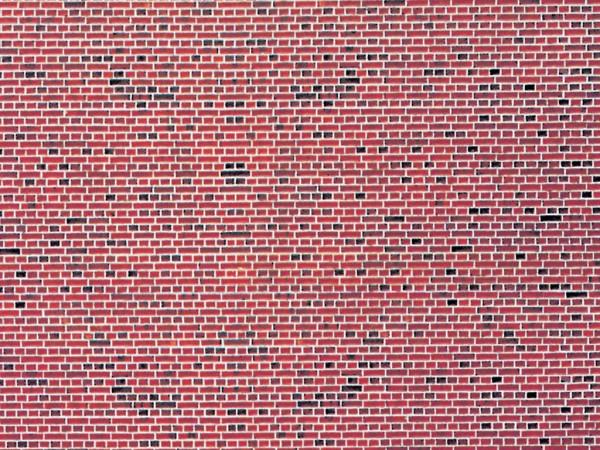 N Mauerplatte Klinker aus Karton, 25 x 12,5 cm,