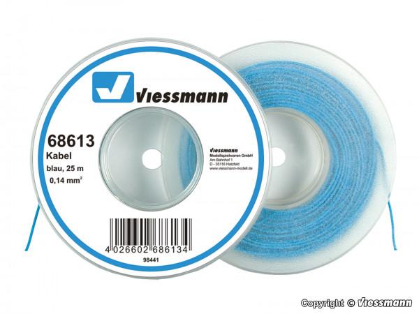 Kabel auf Abrollspule 0,14 mm², blau, 25 m