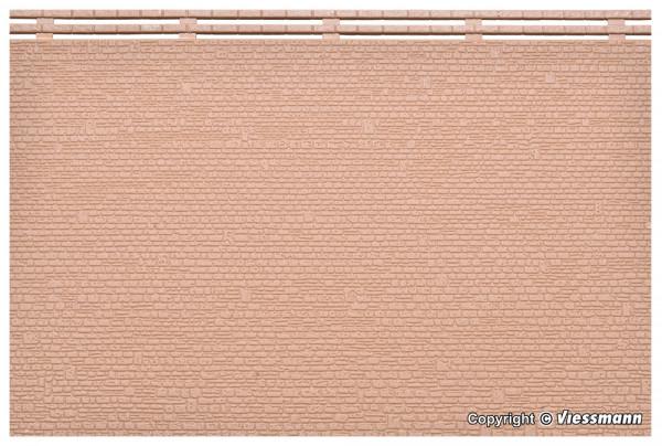 N/Z Mauerplatte unregelmäßig, mit Abdecksteinen,