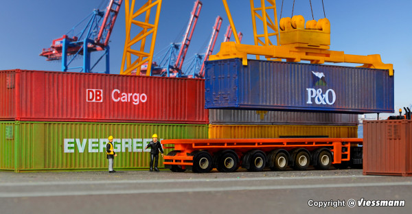 H0 40-Fuß-Container, 6 Stück