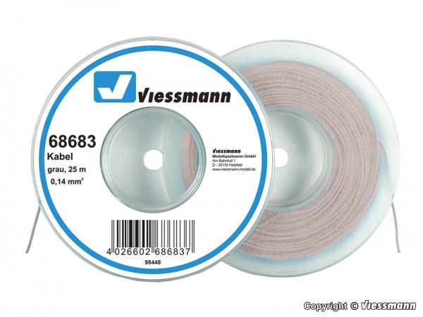 Kabel auf Abrollspule 0,14 mm², grau, 25 m