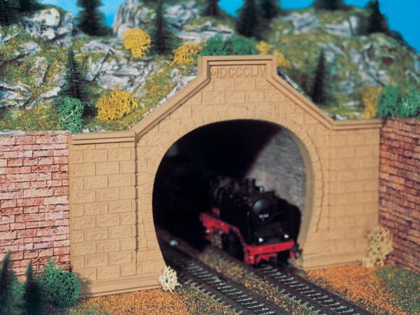 H0 Tunnelportal Rheintal, zweigleisig, 2 Stück