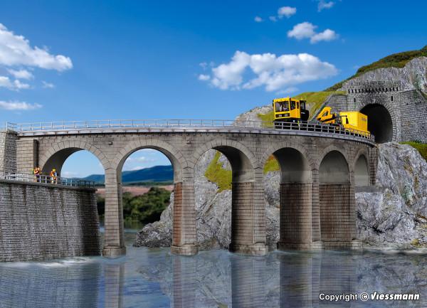 H0 Riedberg-Viadukt mit Eisbrecherpfeilern