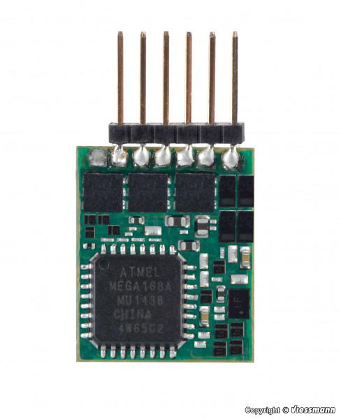 N Lokdecoder mit Stiftleiste 6-polig