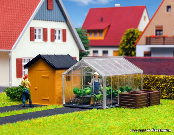H0 Garten- und Gewächshaus