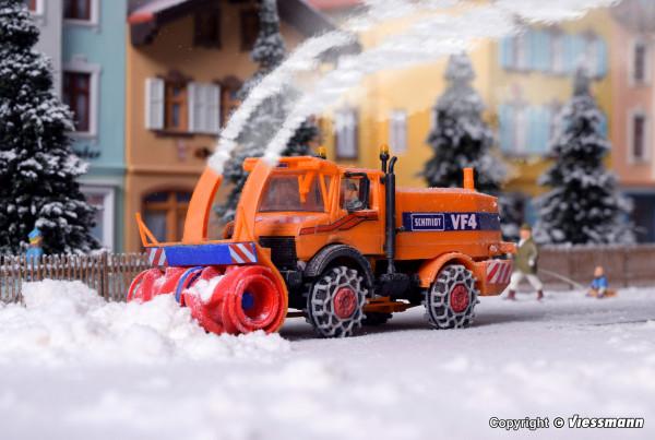 H0 UNIMOG Schneefräse mit Winterdienstausrüstung