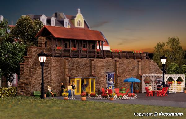 H0 Stadtmauer mit Kleingarten in Weil