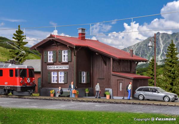 H0 Bahnhof Davos-Monstein inkl. Hausbeleuchtungs-
