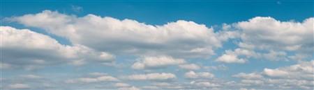 Hintergrundkulisse Wolken, dreiteilig,