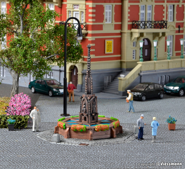H0 Rathaus Brunnen