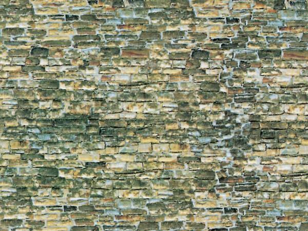 N Mauerplatte Naturstein aus Karton, 25 x 12,5 cm,