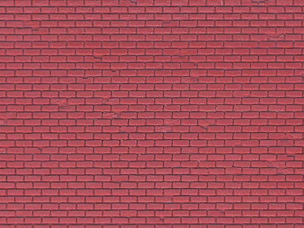 H0 Mauerplatte Klinker aus Kunststoff, 21,8 x 11,9