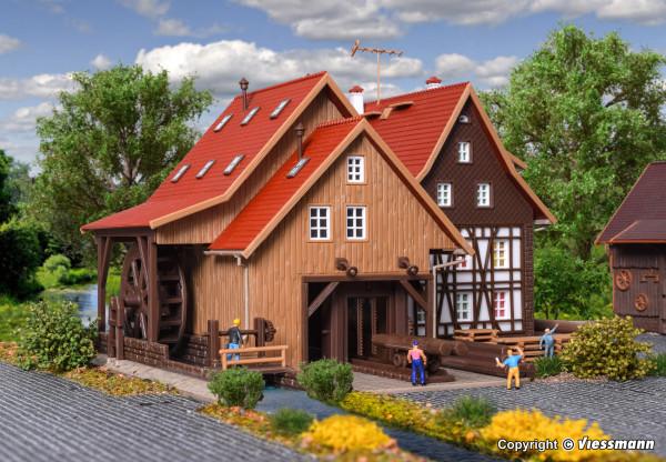 N Tonbachmühle mit Mühlrad und Sägegatter