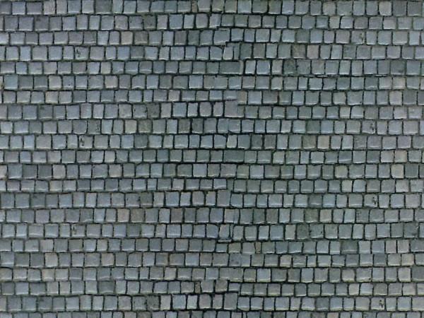 H0 Mauerplatte Pflasterstein aus Karton,