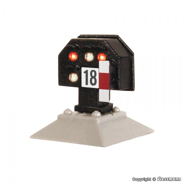 H0 Licht-Sperrsignal, nieder, mit Multiplex-