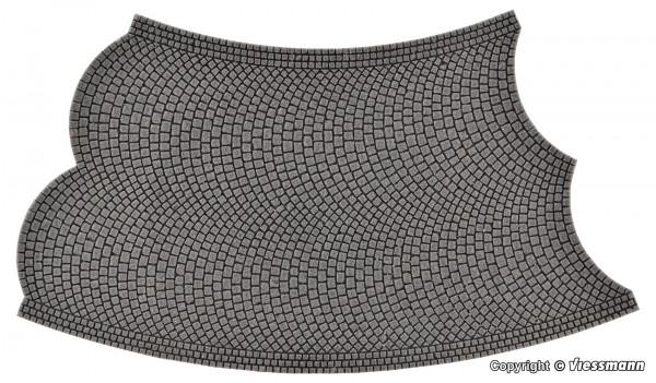 H0 Straßenplatte Kopfsteinpflaster aus Steinkunst,