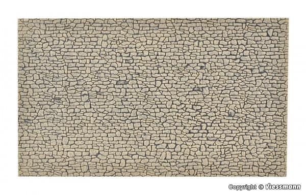 H0 Mauerplatte Bruchstein aus Steinkunst,