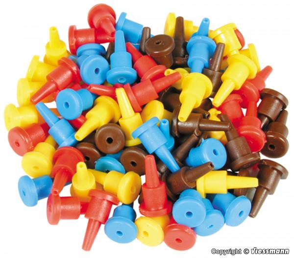 Steckersortiment, 40 Stück sortiert in rot, gelb,