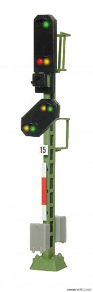 N Licht-Einfahrsignal mit Vorsignal