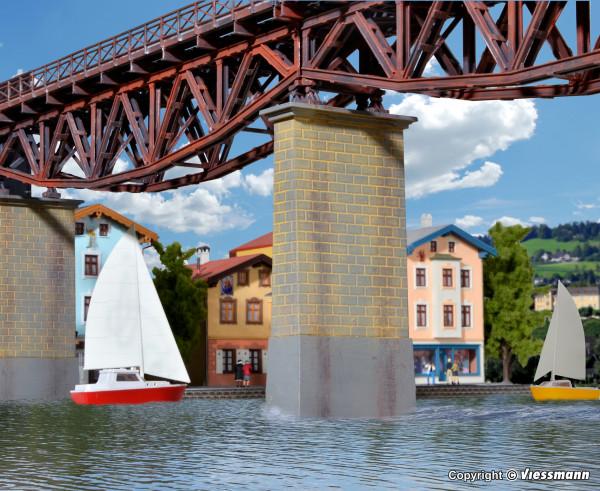 H0 Gemauerter Viadukt-Mittelpfeiler mit