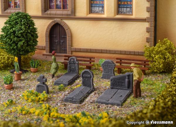 H0 Deko-Set Grabmale aus Steinkunst