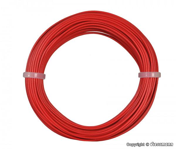 Kabelring 0,14 mm², rot, 10 m