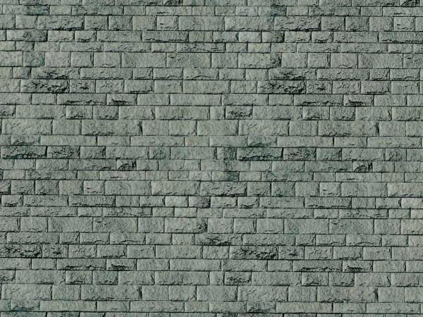 N Mauerplatte Porphyr aus Karton, 25 x 12,5 cm,