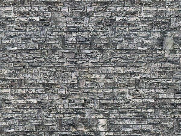 N Mauerplatte Haustein aus Karton, 25 x 12,5 cm,