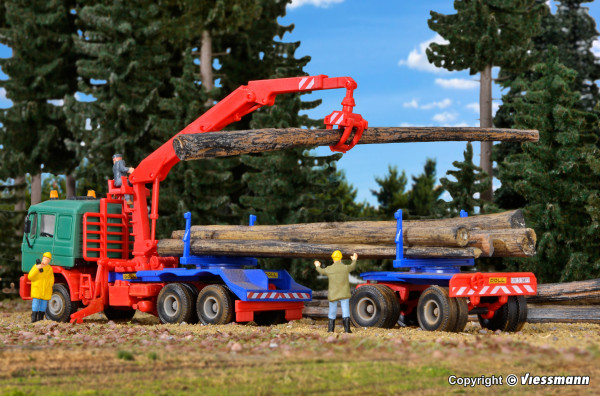 H0 DOLL Langholzaufbau mit Nachläufer