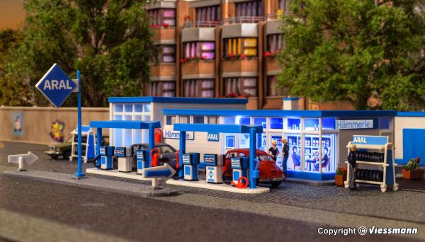 H0 ARAL Tankstelle