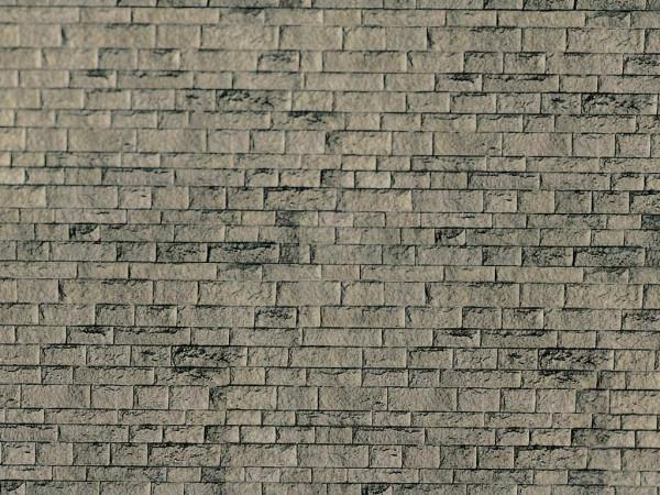 H0 Mauerplatte Haustein natur aus Karton,