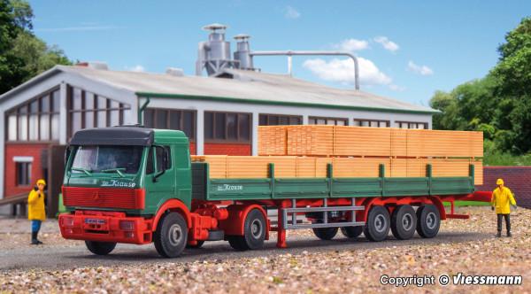 H0 MB SK Zugmaschine mit Auflieger und Holzladung