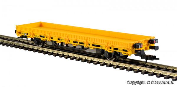 H0 Niederbordwagen mit Antrieb, gelb,