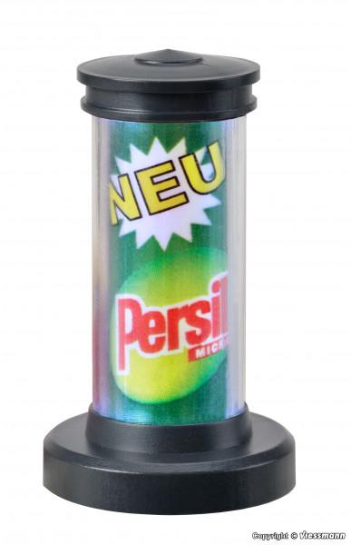 H0 Drehende Litfaßsäule mit LED-Beleuchtung