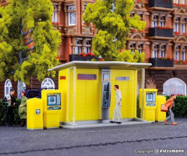 H0 DHL Packstation mit Briefkästen und